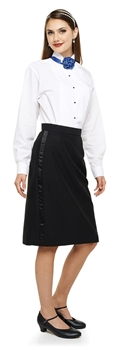 Ladies Below-the- Knee Tuxedo Polyester Skirt