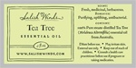 Tea Tree Essential Oil .5 oz