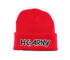 HK Army Beanie Typeface - Red