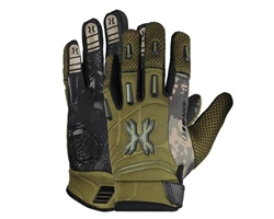 HK Army Paintball Full Finger Pro Gloves - Olive