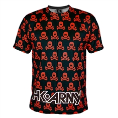 Hk Army Paintball T-Shirt - All Over Print Red Dri Fit