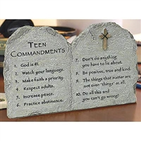 Teen Commandments Confirmation Plaque