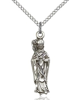 "St Patrick Sterling Silver on 18"" Chain"