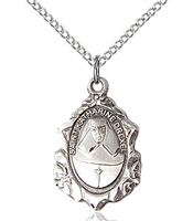 "St. Gerard Sterling Silver on 18"" Chain"