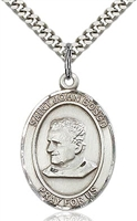 "St. John Bosco Sterling Silver on 24"" Chain"