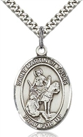 "St Martin of Tours Sterling Silver on 24"" Chain"