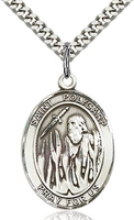 "St Polycarp of Smyrna Sterling Silver on 24"" Chain"