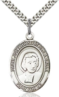 "St. John the Baptist Sterling Silver on 24"" Chain"