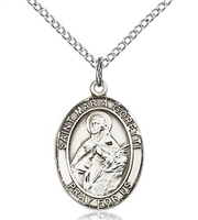 "St Maria Goretti Sterling Silver on 18"" Chain"