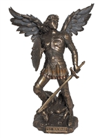 "St Michael the Archangel, Defender In Battle 9"" Statue"