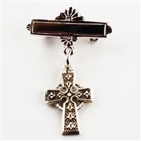 Celtic cross Baby Pin sterling silver