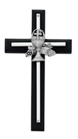 Black First Communion Cross