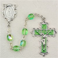 Birthstone rosary- August - Peridot 6MM Rosary