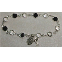 Black and Clear Crystal bracelet