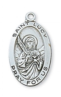 "St. Lucy Sterling Silver on 18"" Chain"