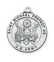 St Michael Army Sterling Silver 24""