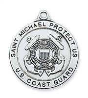 St Michael Coast Guard Sterling Silver 24""