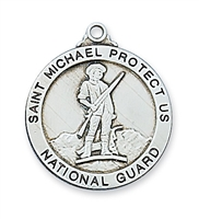 St Michael National Guard Sterling Silver 24""