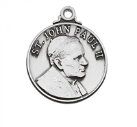 "St. John Paul II Sterling Silver on 20"" Chain"