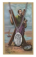 St. Andrew Patron Saint Medal/Prayer Card