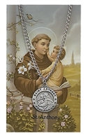 St.  Anthony Patron Saint Medal/Prayer Card
