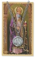 St.  Augustine Patron Saint Medal/Prayer Card