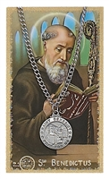 St.  Benedict Patron Saint Medal/Prayer Card