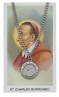 St. Charles Borromeo Patron Saint Medal/Prayer Card