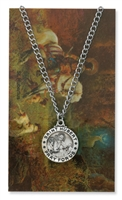 St.  Hubert Patron Saint Medal/Prayer Card