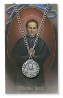 St.  John Bosco Patron Saint Medal/Prayer Card