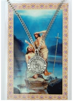 St.  John the Baptist Patron Saint Medal/Prayer Card