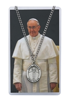 Pope Francis Patron Saint Medal/Prayer Card