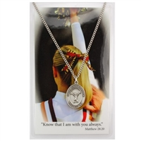 Cheerleading St. Chistopher Medal Prayer Card Set
