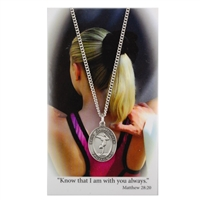 Gymnastics St. Chistopher Medal Prayer Card Set