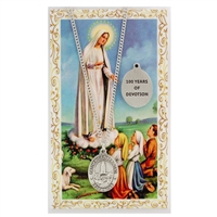 Our Lady of Fatima Centenial Medal and Prayer Card