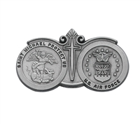 Air Force St. Michael Pewter Visor Clip