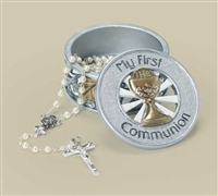 First Communion  Rosary Keepsake Box