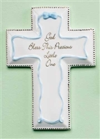 Boy's Cross- God Bless this Precious Little One