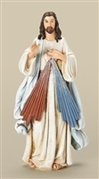 "Divine Mercy colored 8"" Statue"