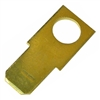 PI-1596D 5 pieces Brass .250 Inch Male Tab With #10 Stud
