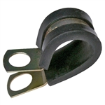 PI-7525C 2 pieces 2 Inch Rubber Insulated Steel Clamp 3/8 Inch Mount Hole