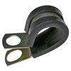 PI-7527C 2 pieces 2-1/2 Inch Rubber Insulated Steel Clamp 3/8 Inch Mount Hole
