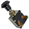 PI-5521C 1 piece Push/Pull On-Off Switch 3/8 Inch Mount Hole with 2 Screws 12 Vlt 15 Amp 6 Vlt 25 Amp