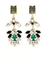Venice Multicolor Rhinestone Dangle Earrings, Fashion Earrings, Rhine Stones, Statement Earrings, Crystal Earrings