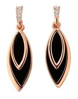 Classic Black And Gold Drop Earrings, 14K Gold Plated Dangle Earrings,  Graduated Fancy Cut Round Clear Crystals