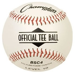 Champion Official Tee Ball Baseballs - Dozen