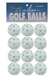 Champion Plastic Golf Balls - Set of 12
