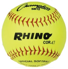 "Champion RHINO 12"" Fastpitch Softballs - Dozen"