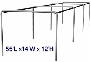 "Cimarron 55x14x12 Stand Alone 2"" Batting Cage Frame"