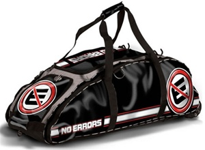 No Errors Dinger Baseball / Softball Bat Bag with FatBoy Wheels
